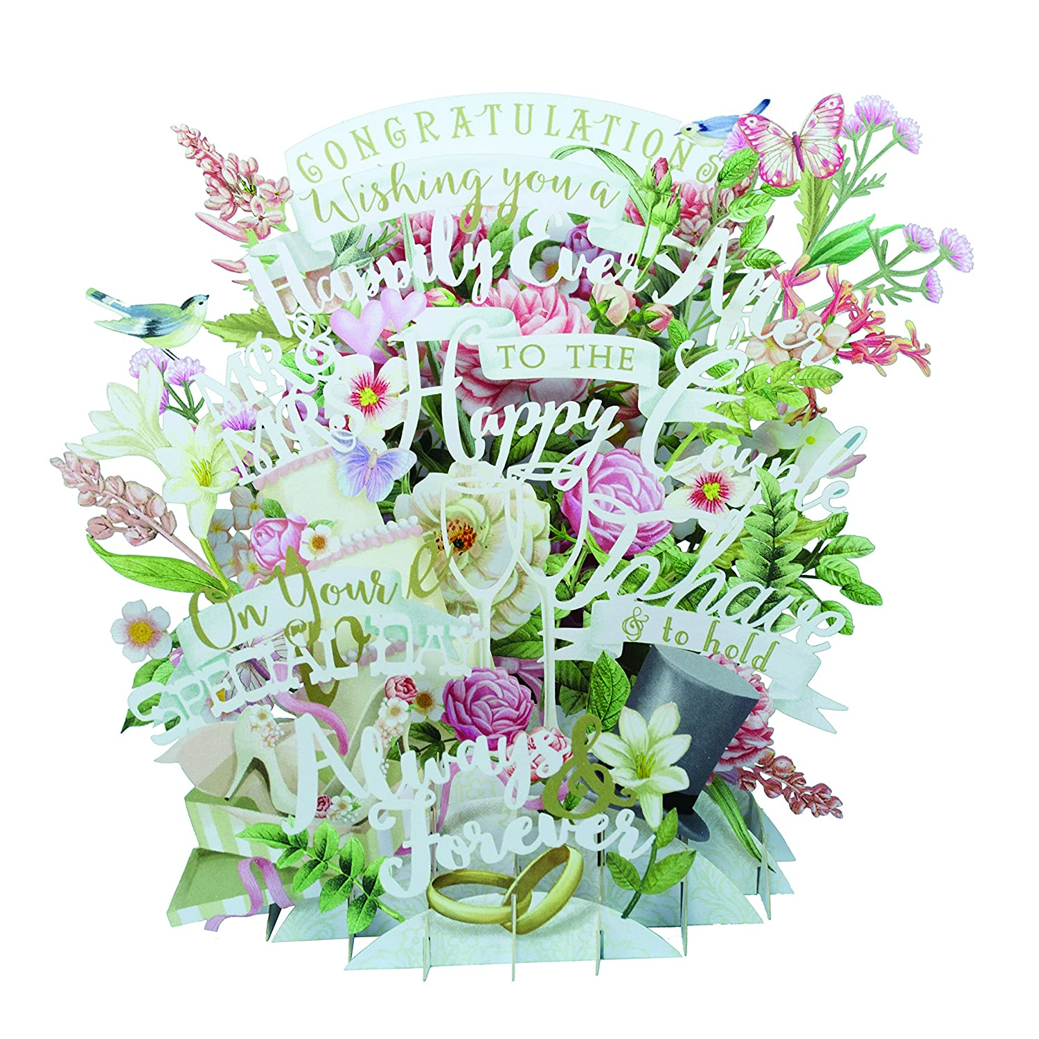 Paper D'Art 3D Pop up Birdcage Greeting Card Paper D'Art 3D015
