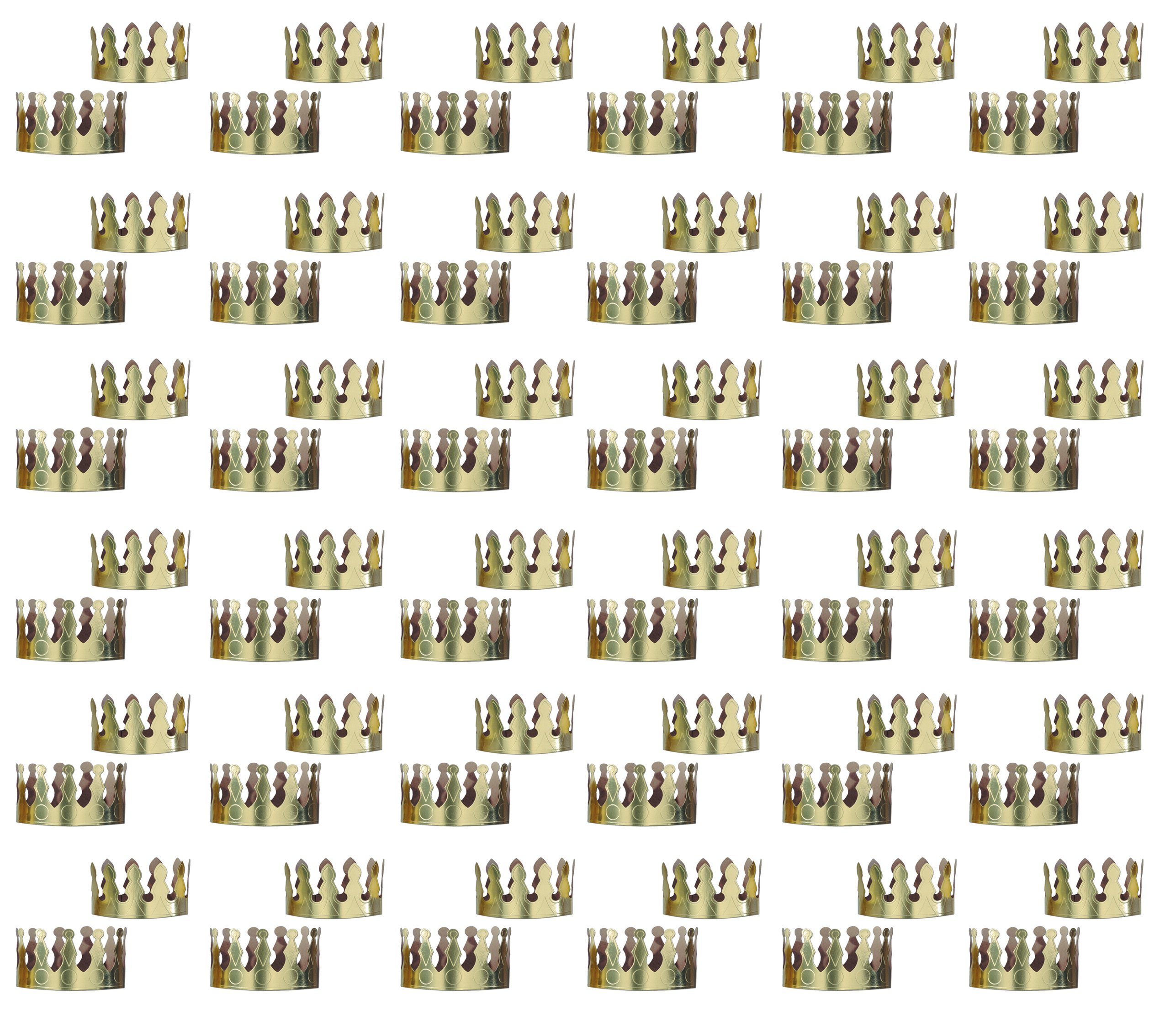 Beistle 66049 72-Pack Gold Foil Crowns, 4-Inch