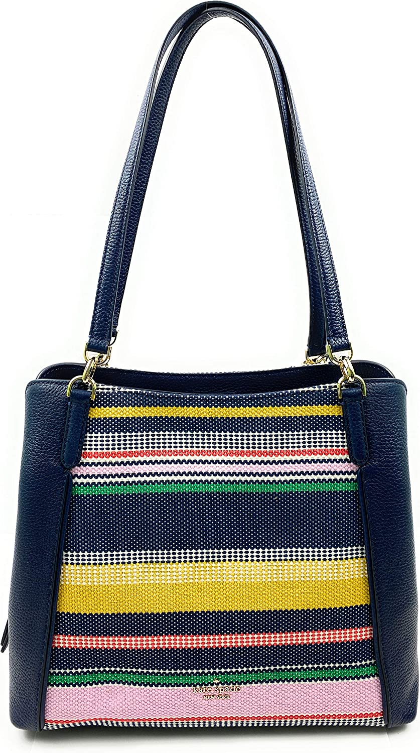 Kate Spade Purse Jackson Medium Triple Compartment Shoulder Bag (Boardwalk stripe multi)