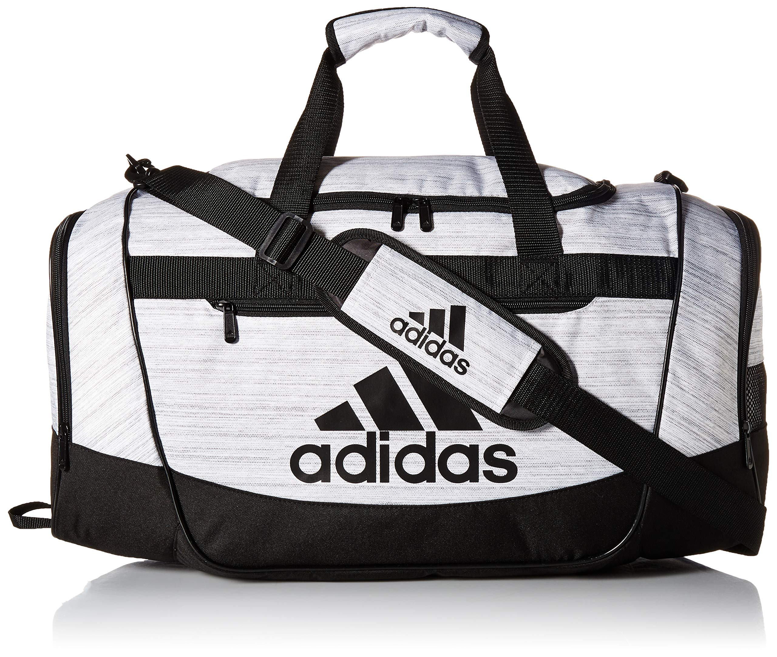 adidas Defender III Duffel Bag, White Two Tone/Black, Medium