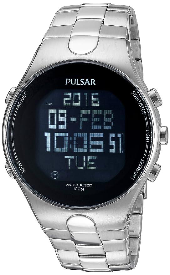 amazon com pulsar men s mensware quartz stainless steel dress rh amazon com Pulsar Watch Repair Authorized Pulsar Digital Watches for Men