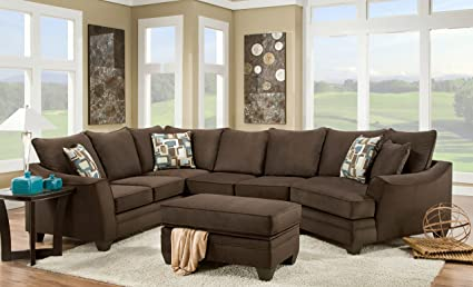 Amazon Com Chelsea Home Furniture Cupertino 3 Piece Sectional