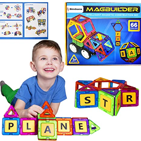 8b6548209be Amazon.com  Simbans Magbuilder STEM Build and Play Toy