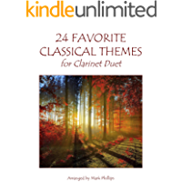 24 Favorite Classical Themes for Clarinet Duet (English