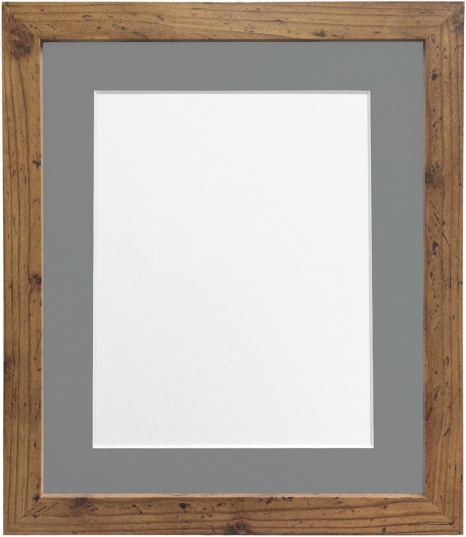 Amazon.de: Frames by Post H7-Bilderrahmen mit weißem Passepartout ...