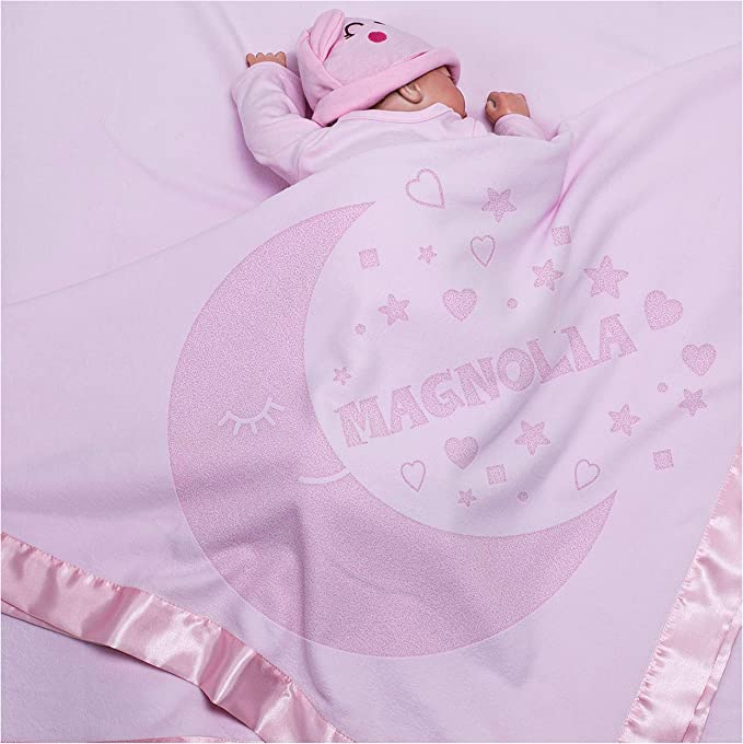 Baby Toddler Soft fleece 28 x 38 Fleece Blanket Black /& White Personalized  Poly spun fleece Christening Shower Birthday Bris Mom gift