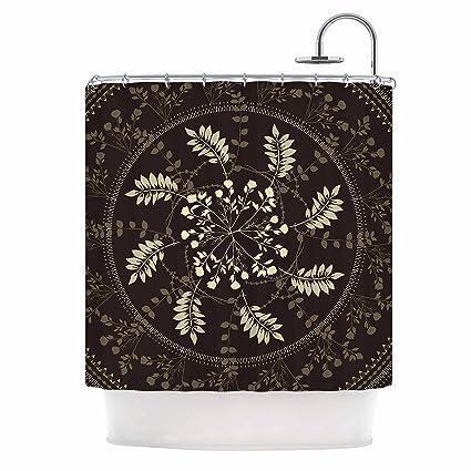 KESS InHouse Famenxt Reborn Mandala Beige Bandana Shower Curtain 69quot