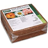 Kempf Compressed Coco Coir Block, Growing Medium 10 Pound Block, Organic, Garden Potting Mix, Peat Moss Alternative, Natural Certified Product