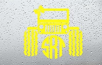 Amazoncom Bow Jeep Monogram Car DecalSticker INCH YELLOW - Monogram car decal amazon