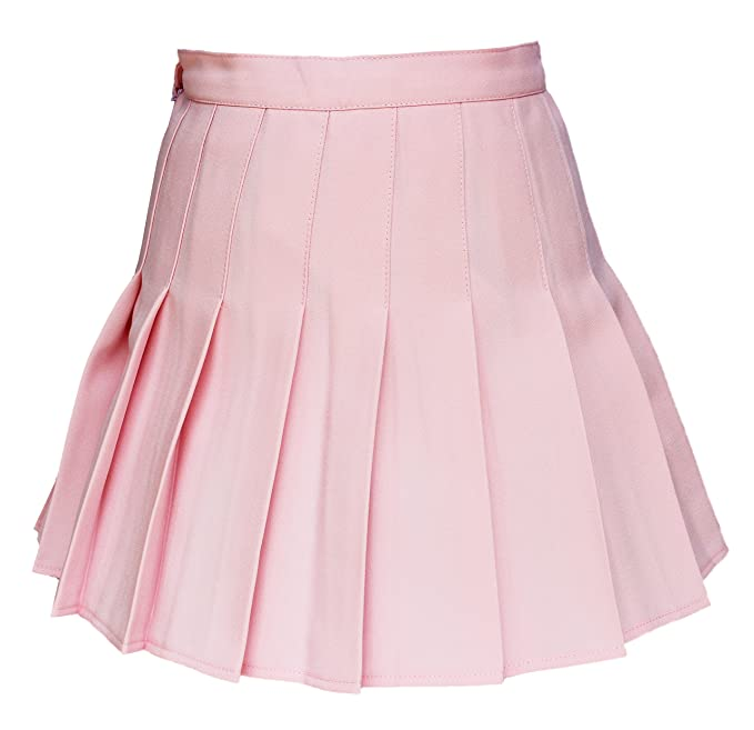 Retro Skirts: Vintage, Pencil, Circle, & Plus Sizes Womens High waisted Solid Pleated Mini Short Skirt $28.99 AT vintagedancer.com