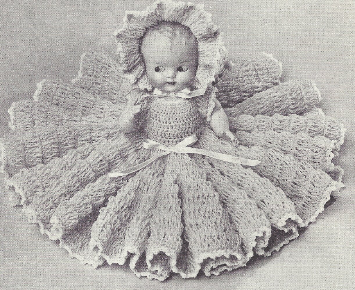 Amazon Vintage Crochet Pattern To Make 11 Inch Bed Doll Baby