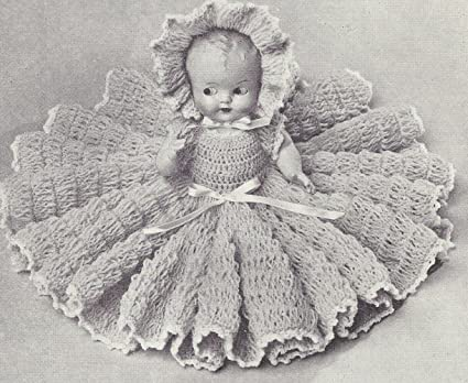 Amazoncom Vintage Crochet Pattern To Make 11 Inch Bed Doll Baby