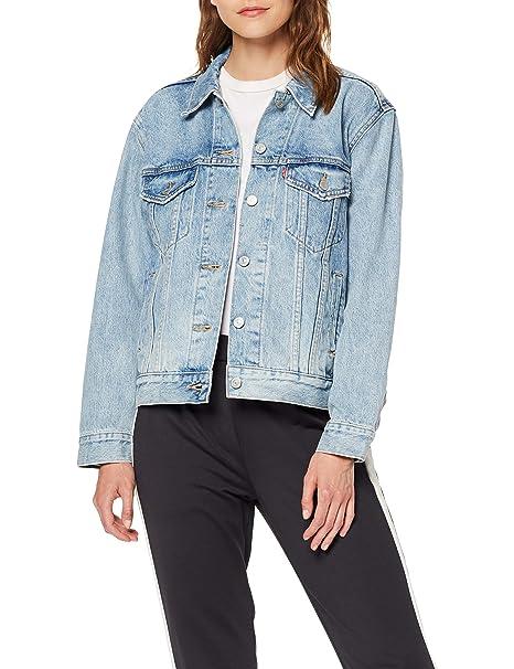 Giacca Jeans Levi's Donna, modello Ex Boyfriend Trucker. Colore blu Soft As Butter Mid