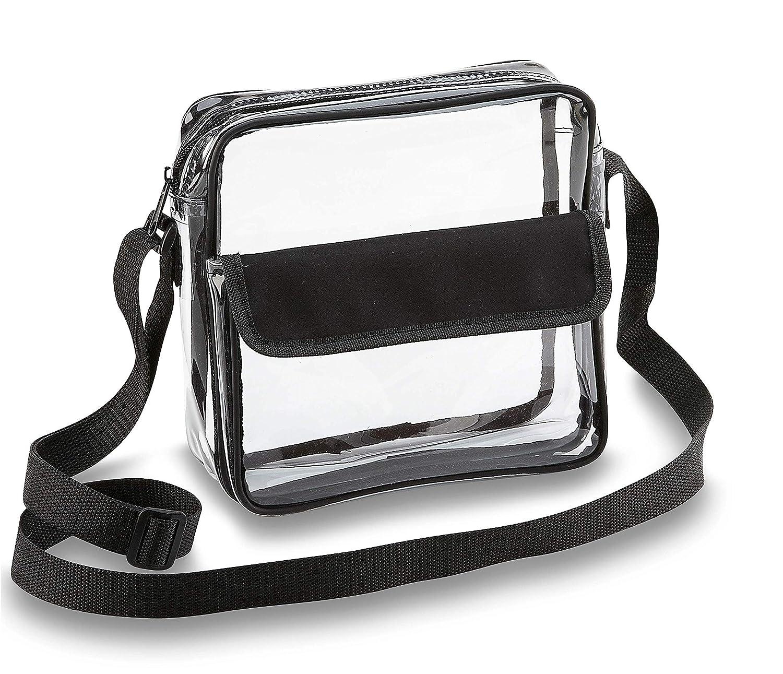 a70c784d88ec Clear Crossbody Messenger Shoulder Bag with Adjustable Strap NFL Stadium  Approved Transparent Purse