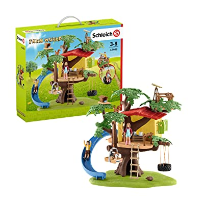 Schleich Farm World Adventure Tree House 28-piece Educational Playset for Kids Ages 3-8: Schleich: Toys & Games