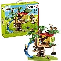 Schleich Farm World Adventure Tree House 28-piece Farm Playset for Kids Ages 3-8