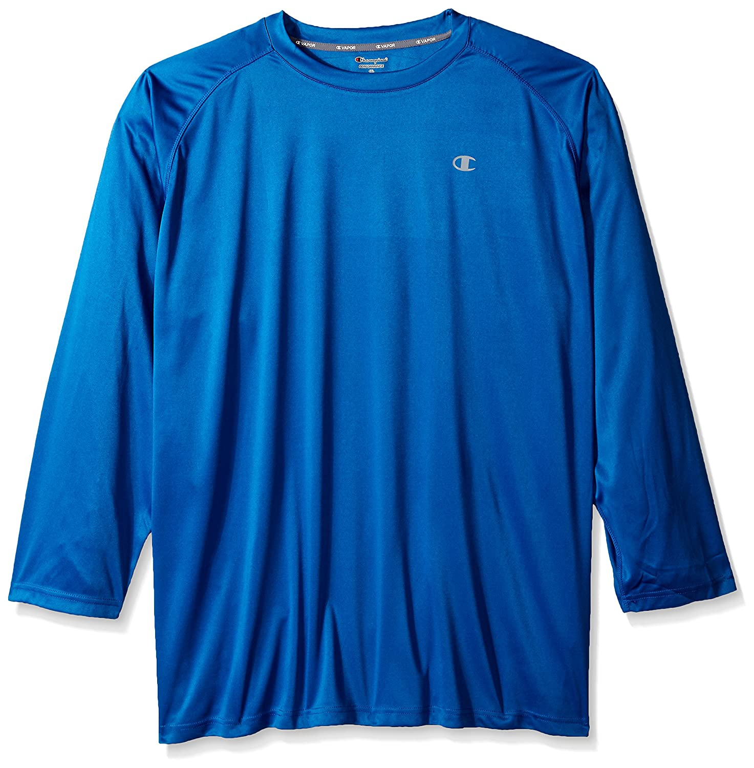 a6961c7a0 Champion long sleeve c-vapor crew with left chest Champion c proudly  displayed along with c-vapor technology on the side. Raglan design offers  added comfort ...