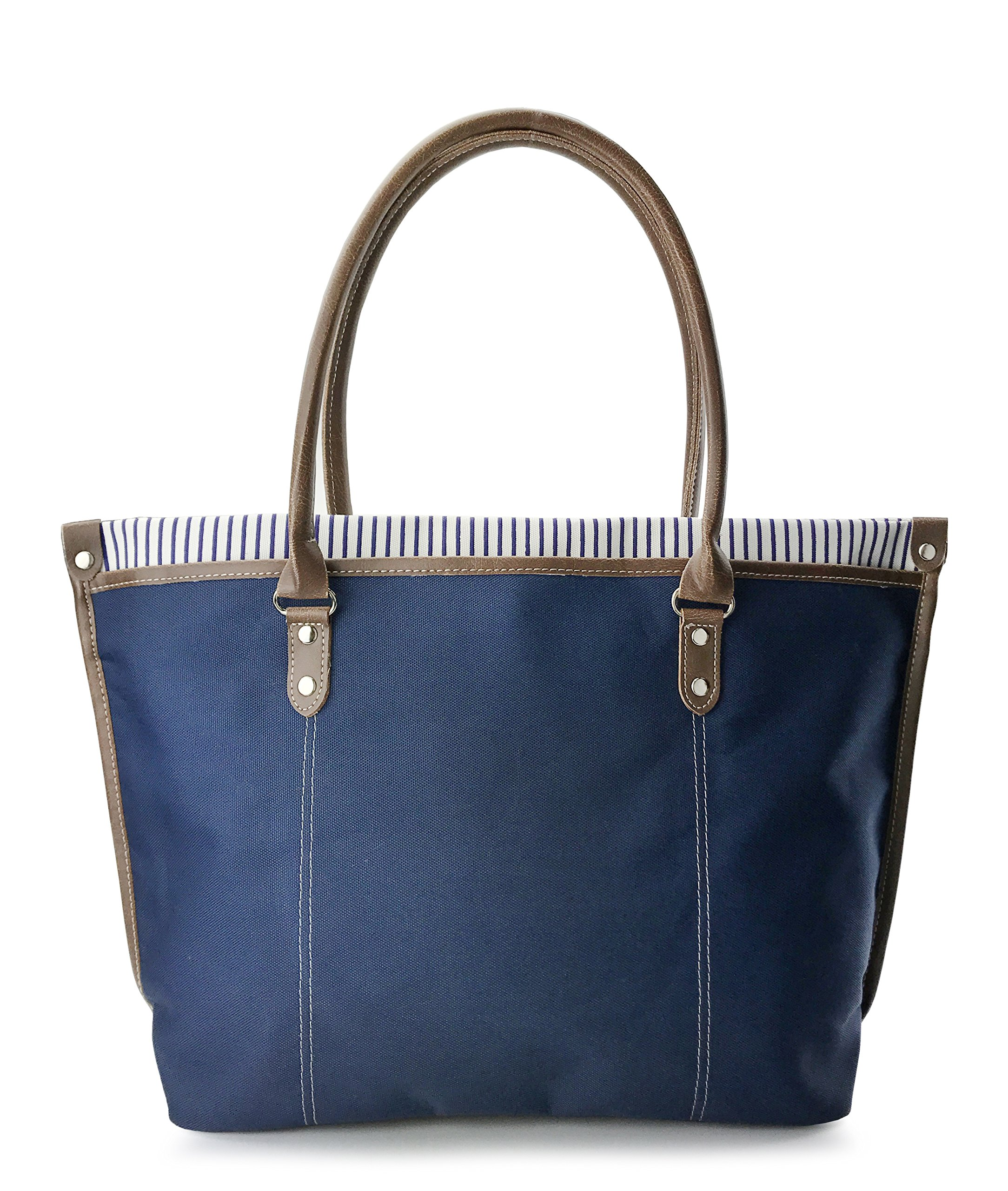 Commute Nylon Tote Womens Shoulder Handbag (Navy) by Hoxis