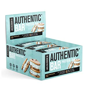 Authentic Bar Mint Peanut Butter Chocolate Protein Bars - Tasty Meal Replacement Energy Bars w/ 15g Whey Protein Isolate, Natural Sugars from Pure Honey, Healthy Fat Peanut Butter Foundation - 6 Pack