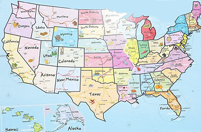 Puzzles Magnetic Puzzle Map USA United States martinshudt.com on clickable map of usa, electronic map of usa, geophysical map of usa, grid map of usa, yello map of usa, seismic map of usa, digital map of usa, geological map of usa, color coded map of usa, wooden map of usa, barometric pressure map of usa, topographic map of usa, movable map of usa,