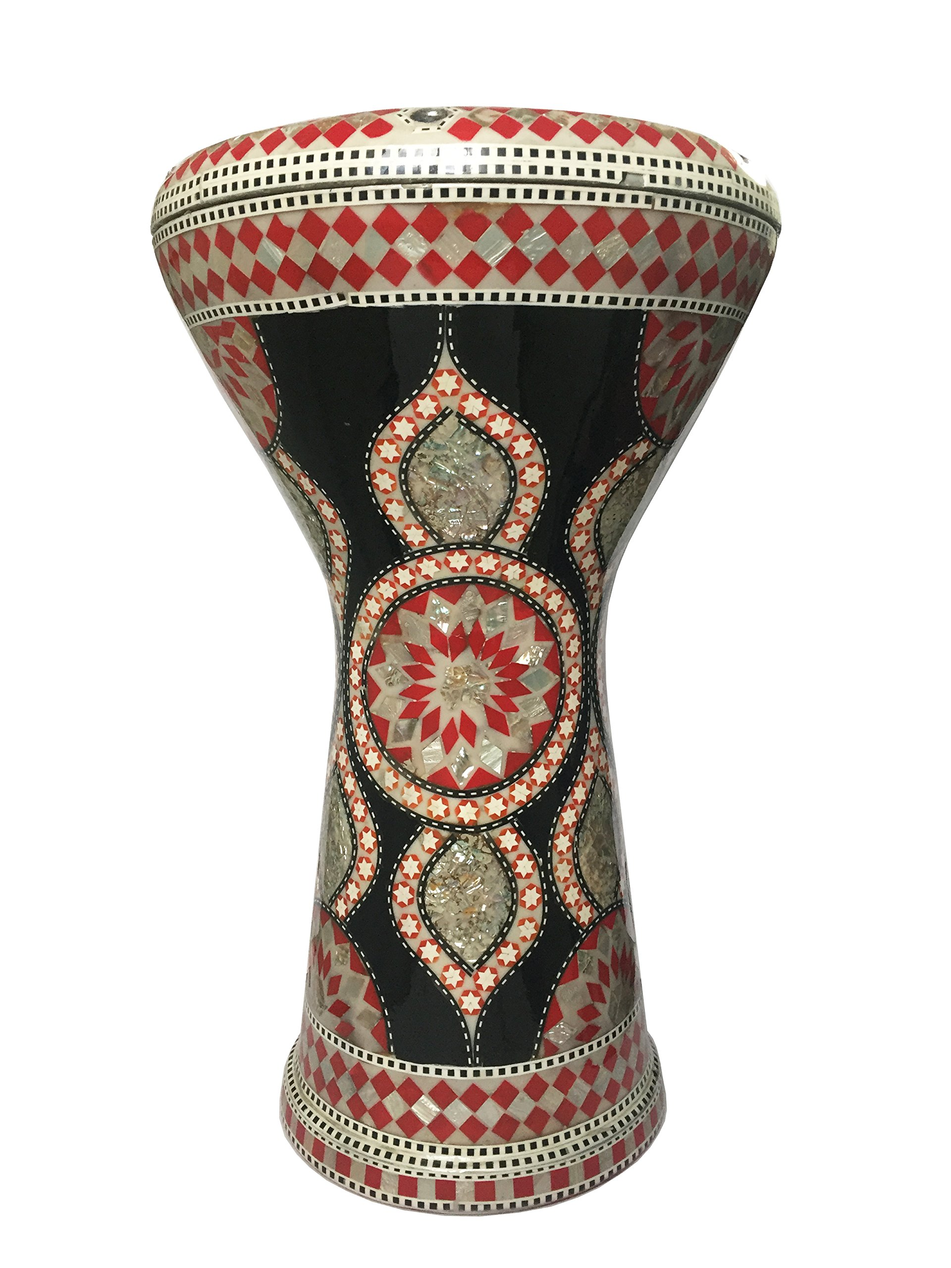 Gawharet El Fan 17'' Mother of Pearl Black Darbuka Drum Percussion Model503