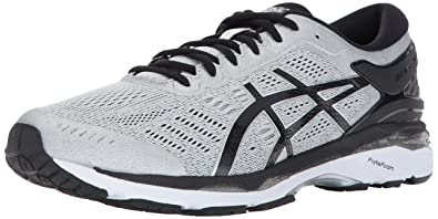 ASICS Men's Gel-Kayano 24 Running Shoe (Silver/Black/Mid Grey,