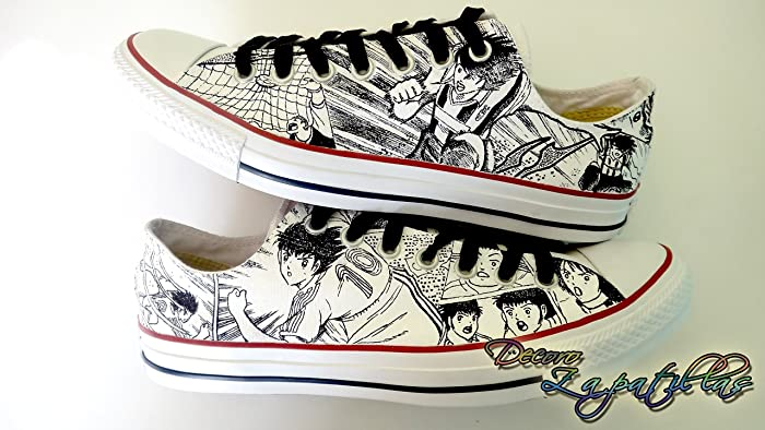 c71c61cc6131 Amazon.com  Black and white custom canvas shoes handpainted