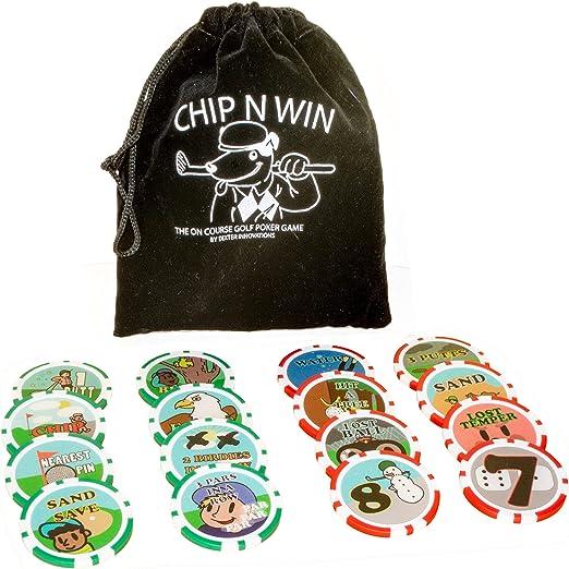 Dexter Innovations Chip N Win: The On Course - Juego de fichas de póquer para Jugar hasta el Final.: Amazon.es: Deportes y aire libre