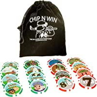 Dexter Innovations CHIP N WIN: THE ON COURSE GOLF POKER CHIPS GAME: Amazing fun that keeps you playing right until the end. This game will keep the banter going in to the 19th!