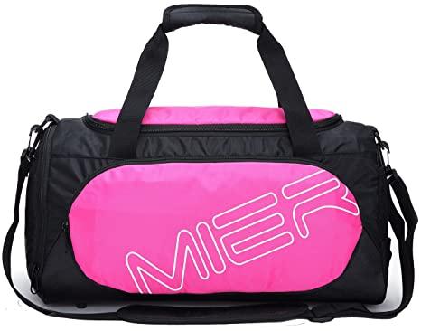 MIER Small Gym Sports Bag For Men And Women With Shoes Compartment 18inchPink