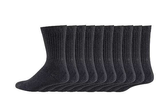20 Paar Damen Tennis Socken schwarz 90/% Baumwolle