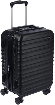 AmazonBasics Hardside Spinner Luggage - 20-Inch, Black best spinner luggage