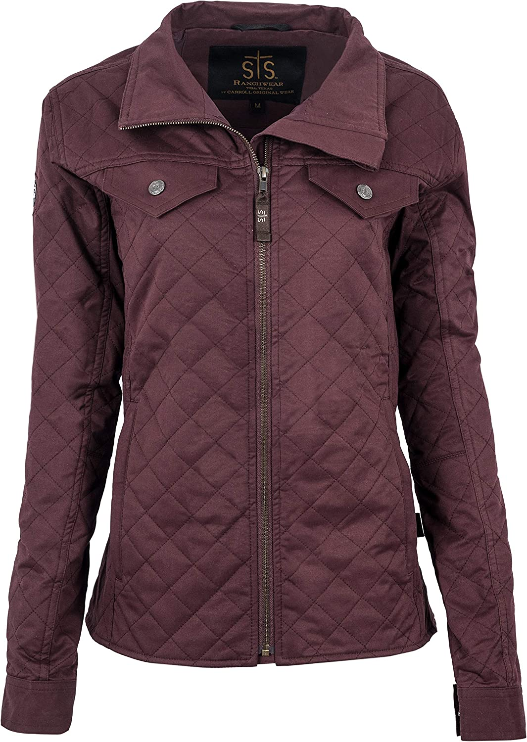 STS Ranchwear Womens Quilted Jacket with satin liner Plum Small