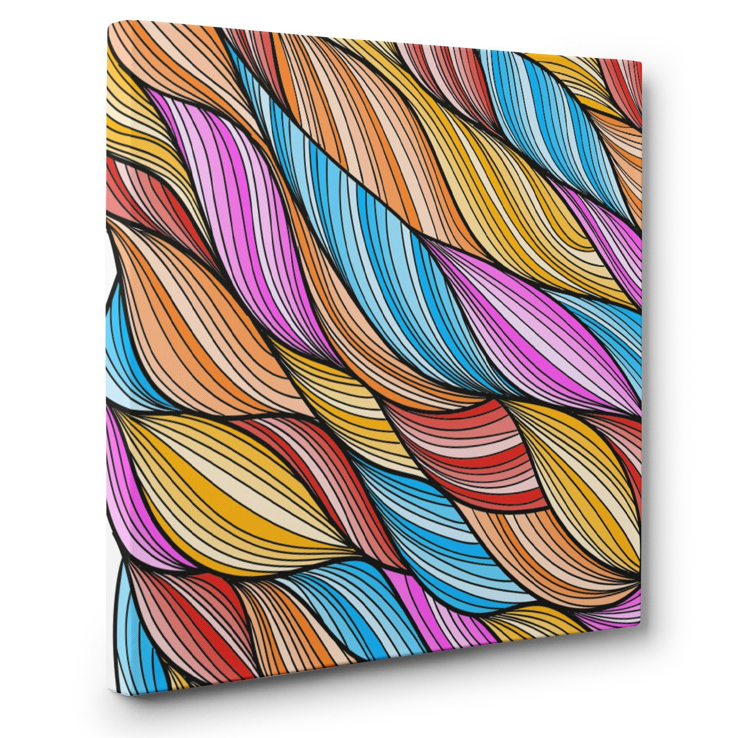 Colorful Abstract Art CANVAS Wall Art Home Décor by Paper Blast