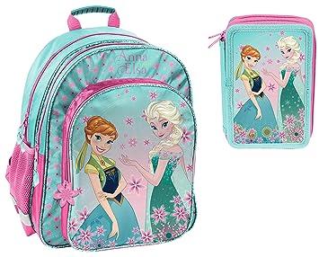 SCOOLSTAR Frozen-SET-3t-small - Set de útiles Escolares Niños Türkis- Rosa Frozen-3teilig: Amazon.es: Equipaje