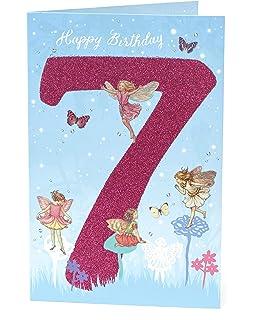 Twizler 7eme Carte D Anniversaire Pour Fille Avec Trampoline Sept