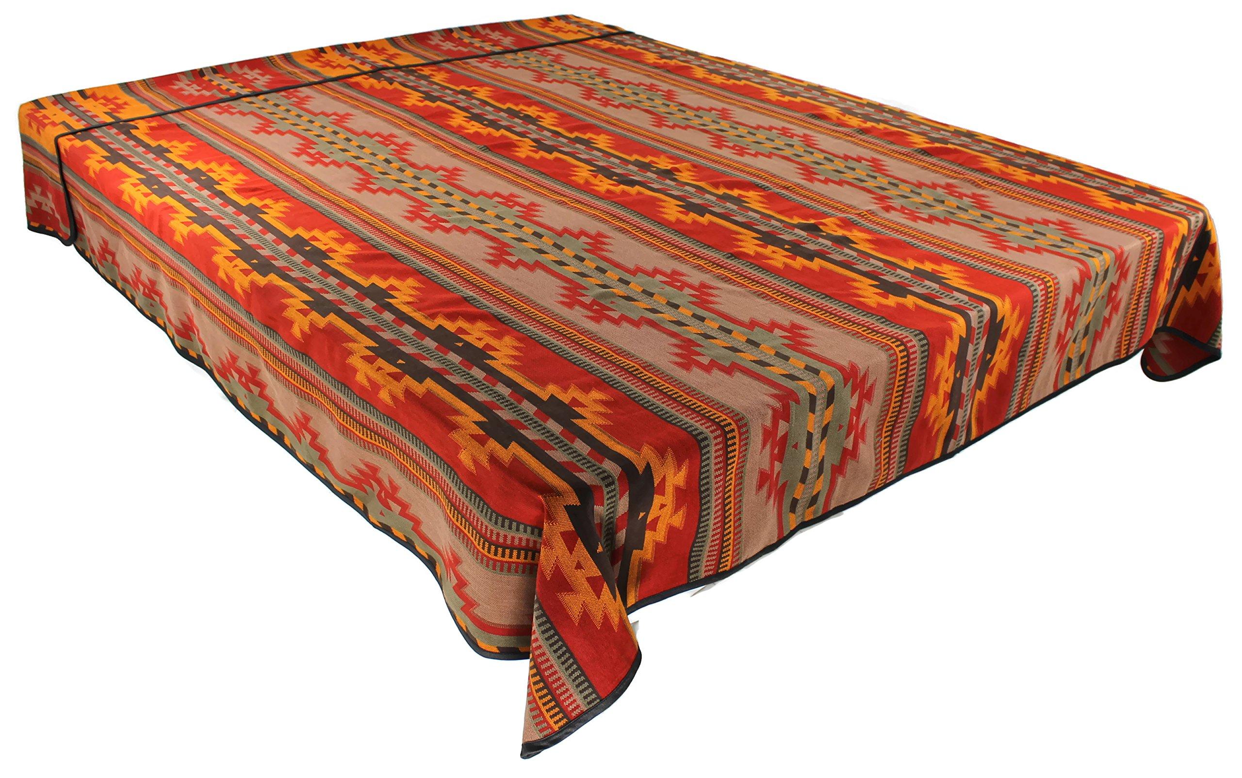 Splendid Exchange Southwestern Bedding Bonita Collection, Mix and Match, King Size Reversible Bedspread, Bonita Red and Yellow