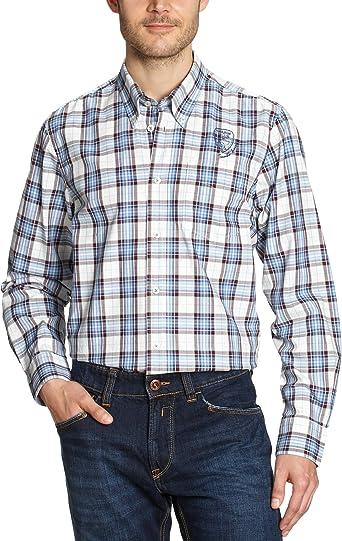 LERROS - Camisa a Cuadros de Manga Larga para Hombre, Talla 54, Color Azul Claro 431: Amazon.es: Ropa y accesorios