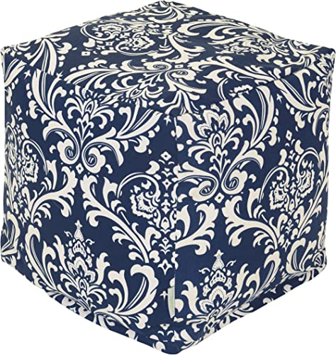 Majestic Home Goods 85907220112 French Quarter Cube, Small, Navy Blue