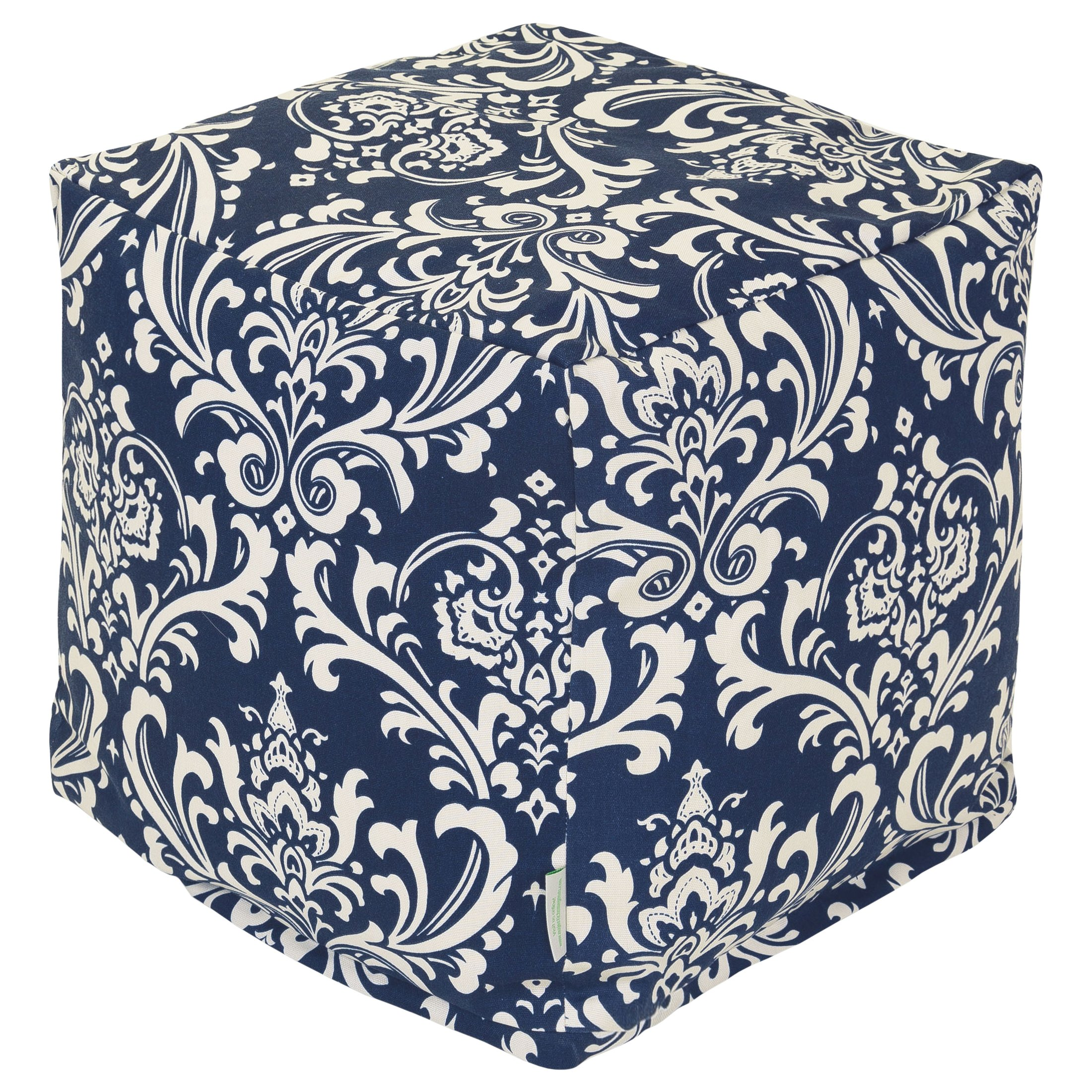 Majestic Home Goods French Quarter Cube, Small, Navy Blue