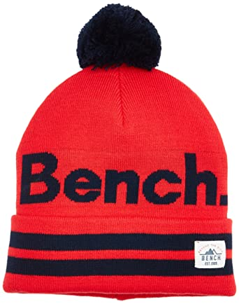 a109ae8f9e Bench Turn Up Bobble Beanie Bonnet Rouge (Red Rd012), Small (Taille  Fabricant