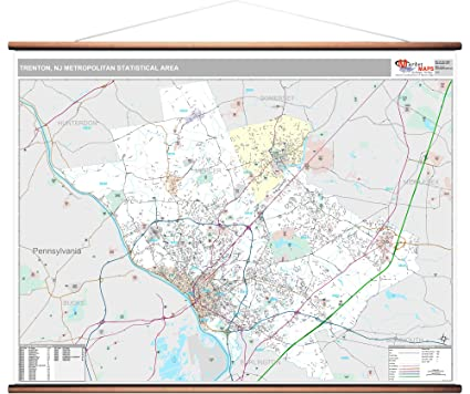 Amazon.com: MarketMAPS Trenton, NJ Metro Area Wall Map - 2018 - ZIP on map of mullica township nj, map of lawnside nj, map of farmington nj, map of cliffwood beach nj, map of stafford twp nj, map of pedricktown nj, map of west long branch nj, map of wood-ridge nj, map of hightstown nj, map of sea island nj, map of new jersey, map of cape may courthouse nj, map of haddon twp nj, map of normandy beach nj, map of lafayette nj, map of hudson nj, map of ewing township nj, map of leonardo nj, map of alexandria nj, map of mount vernon nj,