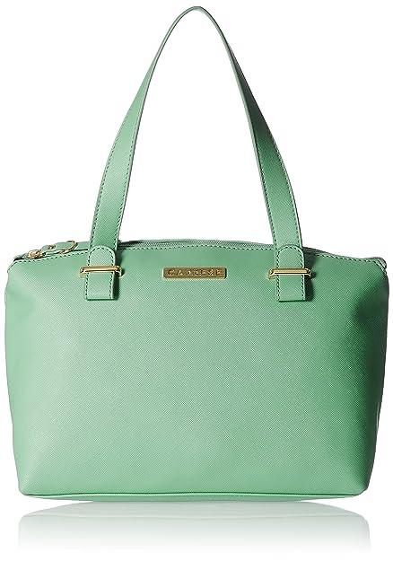 469977b27d6e2 Caprese Women s Zeta Tote bag (Light Green)  Amazon.in  Shoes   Handbags