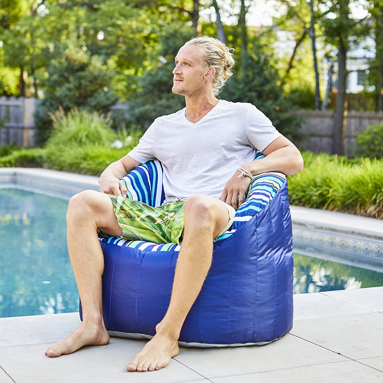Cozumel Stripe//Navy Comfort Research 0650886 Big Joe Outdoor Lumin/Cool Float