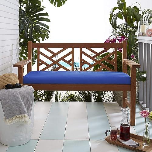 Mozaic Company AMZ164811SC Bench Cushon-Brstol Patio-Furniture-Cushions, Canvas True Blue