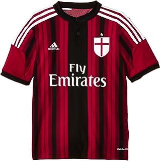 de5107f92b1197 adidas, Maglia da calcio AC Milan, Rosso/Nero, Taglia XS: adidas ...