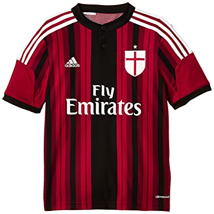 AC MILAN Adidas Camiseta de equipación de fútbol para hombre, color rojo negro