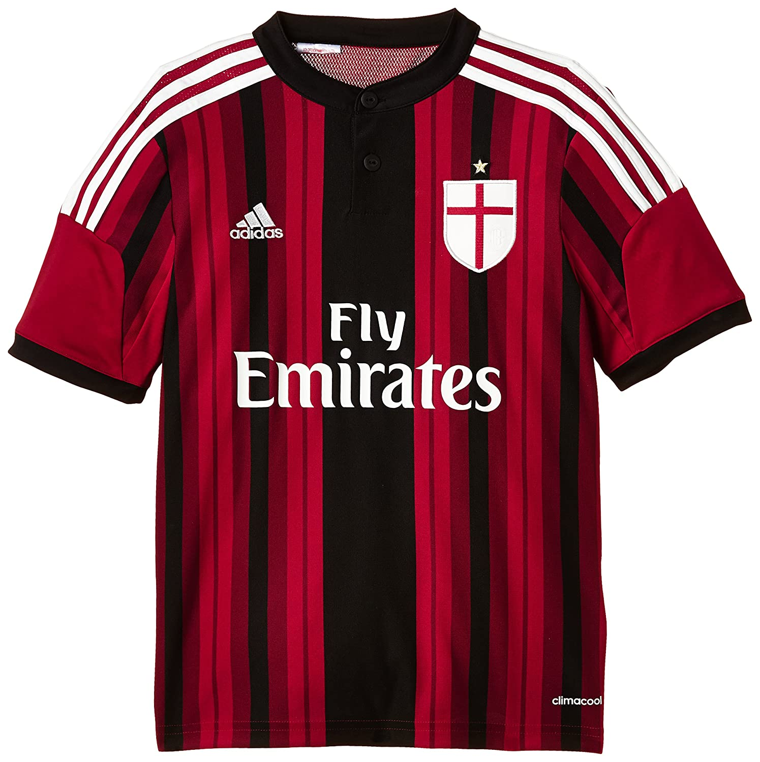 info for 9af71 cee4f Adidas Boy's AC Milan Home Jersey