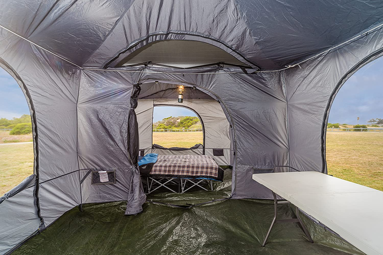 Amazon Standing Room PREMIUM Family Cabin Tent 85 OF HEAD ROOM 4 Big Screen Doors Fast Easy Set Up Full Waterproof Fabric Ceiling NOT CHEAP LEAKY