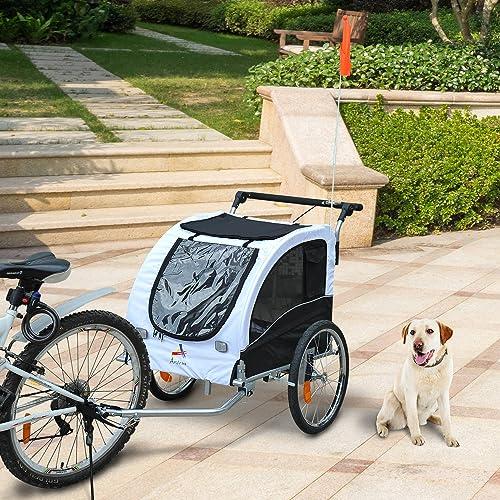 Festnight Pet Dog Bike Bicycle Trailer Stroller Jogger w Suspension